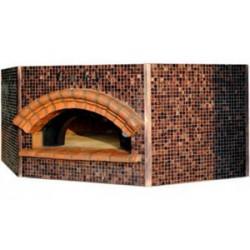 CEKY - Pentagonal Bois - 10 Pizzas - 140 cm de diam.  + Décoration mosaïque - 106 (Bouche) x 190 P x 115 (côté) x 200H - 2500Kg