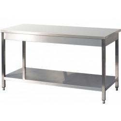GEMM - Table inox avec étagère 2m x 70
